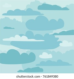 The sky in the clouds. Blue background.