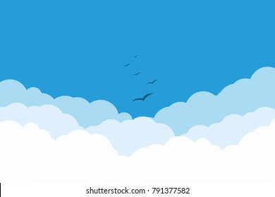 Sky. Clouds. Blue. Background. Bright. Good weather. For your design.