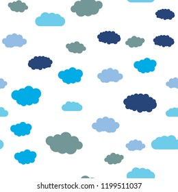 Sky and clouds. Flat geometric pattern texture. Multicolor abstract background for print and textile
