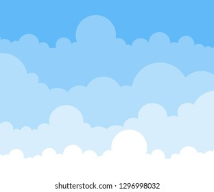 Sky and clouds. Vector illustration.