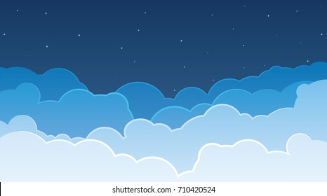 Sky and Clouds vector illustration