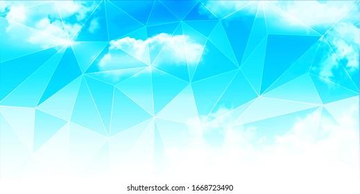 Sky geometric pattern landscape background