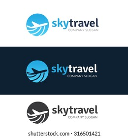 Sky Travel Agency Logo Template