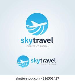 Sky Travel Logo Template