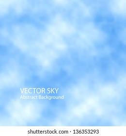 Sky vector background. Seamless