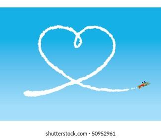 Sky Writing - Heart