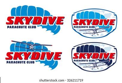 Skydive vector logo