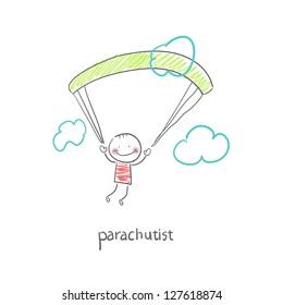 Skydiver. Illustration.