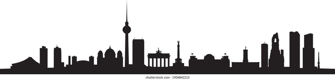 Skyline of the german capital Berlin