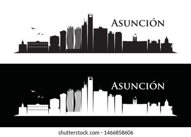 Asunción skyline - Paraguay - vector illustration