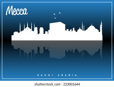 skyline silhouette vector design on parliament blue and black background.