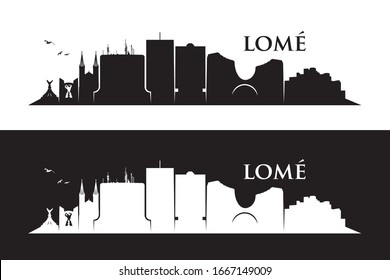 Lomé skyline - Togo - vector illustration