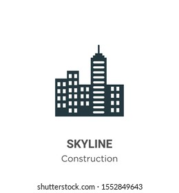 Skyline vector icon on white background. Flat vector skyline icon symbol sign from modern construction collection for mobile concept and web apps design.