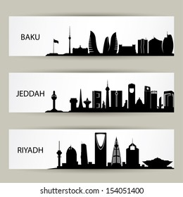 Skylines banners - vector illustration