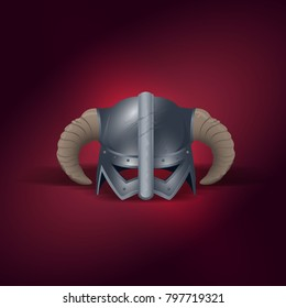 Skyrim helmet for logo or card