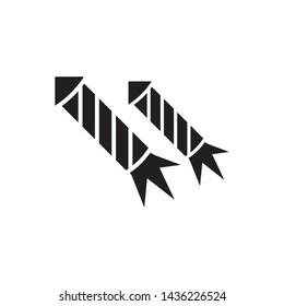 Skyrocket fireworks black isolated vector illustration