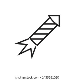 Skyrocket icon outline isolated vector illustration.