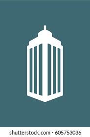 Skyscraper building icon, Vector