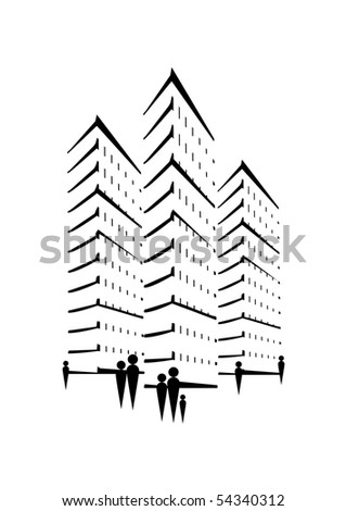 Skyscraper Concept People Stock Vector Royalty Free 54340312