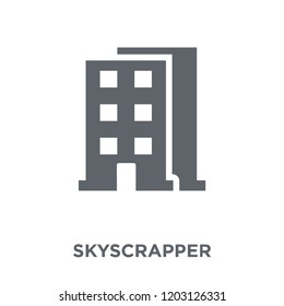Skyscrapper icon. Skyscrapper design concept from  collection. Simple element vector illustration on white background.