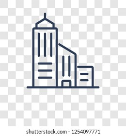 Skyscrapper icon. Trendy Skyscrapper logo concept on transparent background from Real Estate collection