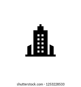skyscrapper icon vector. skyscrapper vector graphic illustration