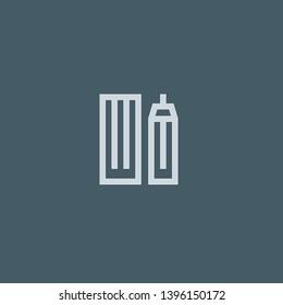 Skyscrapper vector icon. Skyscrapper concept stroke symbol design. Thin graphic elements vector illustration, outline pattern for your web site design, logo, UI. EPS 10.