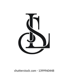 SL Initial Letter Logo Vector Element. Initial Logo Template