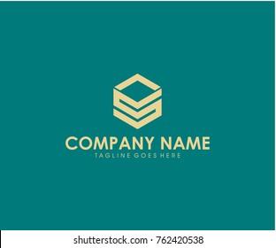 SL initial logo design