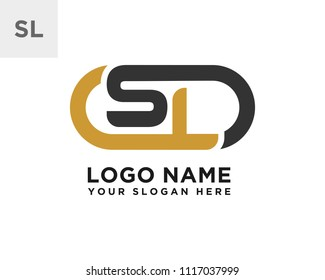 SL initial logo template vexctor