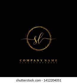 SL Initial luxury handwriting logo vector