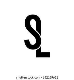 SL initial monogram logo