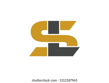 SL logo design vector