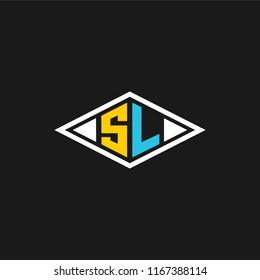 SL logo designed with letter S L in vector format.