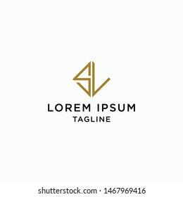 SL Logo Icon Design Template - Vector