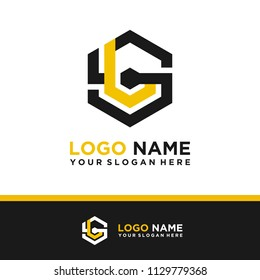 SL logo letter initial, Abstract polygonal Background Logo,