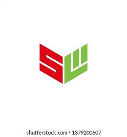SL Logo Letter Initial With Red and Green Colors