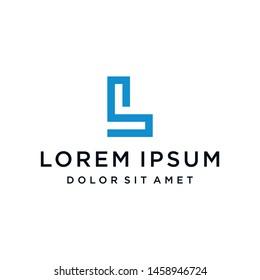 SL LS Logo Monogram Icon Vector Template