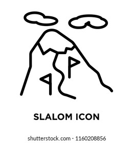 Slalom icon vector isolated on white background, Slalom transparent sign , linear symbol and stroke design elements in outline style