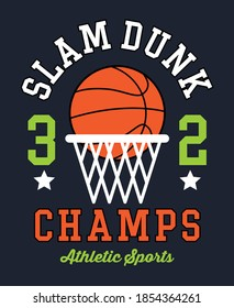 Slam Dunk, Basketball graphic tees Vector designs and other uses