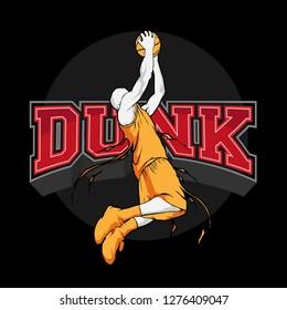 slam dunk basketball silhouette