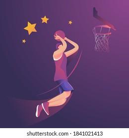 slamdunk basketball player jumping high