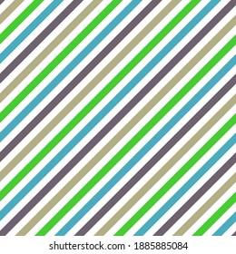 Slant lines stripes grunge vector seamless pattern. Parallel lines texture. Bar stripes fashion print. Colorful slant parallel lines endless ornament.
