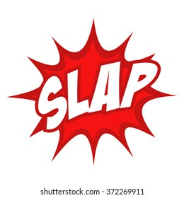 Slap text in comic splash icon