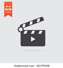 Slapstick icon in flat style isolated on grey background. For your design, logo. Vector illustration.