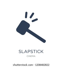 slapstick icon. Trendy flat vector slapstick icon on white background from Cinema collection, vector illustration can be use for web and mobile, eps10