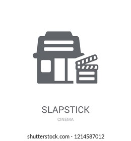 slapstick icon. Trendy slapstick logo concept on white background from Cinema collection. Suitable for use on web apps, mobile apps and print media.