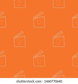 Slapstick pattern vector orange for any web design best
