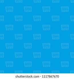 Slapstick pattern vector seamless blue repeat for any use