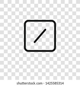slash icon from  collection for mobile concept and web apps icon. Transparent outline, thin line slash icon for website design and mobile, app development